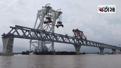 31st span of Padma bridge being installed