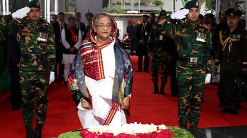Prime Minister pays homage to Bangabandhu
