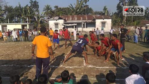 গৌরীপুর থানা পুলিশের উদ্যোগে কাবাডি প্রতিযোগিতা শুরু