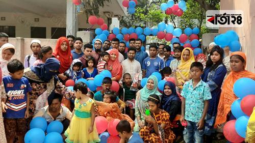 প্রতিবন্ধী শিশুদের নিয়ে বর্ষপূর্তি উদযাপন করল 'ময়মনসিংহ হেল্পলাইন'