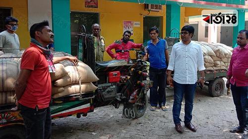 চৌগাছায় ১০ টাকা কেজির ৫৮ বস্তা সরকারি চাল উদ্ধার