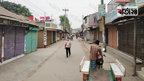 পীরগাছায় দোকানপাট বন্ধ, রাস্তাঘাট প্রায় জনশূন্য