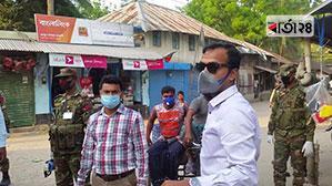 গোপালগঞ্জে করোনা রোধে মাঠে নেমেছে সেনাবাহিনী