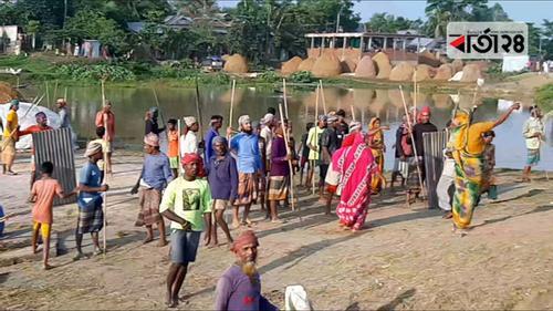 আজমিরীগঞ্জে দুই পক্ষের সংঘর্ষে পুলিশসহ আহত ৫০