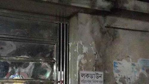 রংপুরে এরশাদের বাসবভন 'পল্লী নিবাস' লকডাউন