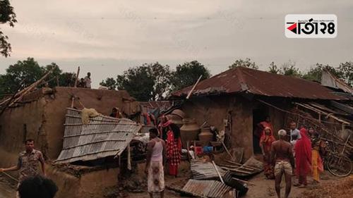 চাঁপাইনবাবগঞ্জে ঝড়ে লণ্ডভণ্ড দুটি গ্রাম
