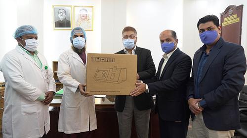bKash provided ventilators to Police Hospital