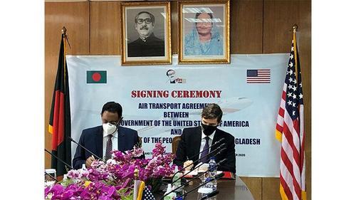 Bangladesh- US aviation agreement signed