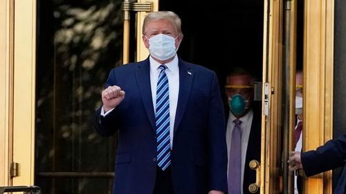 Donald Trump leaves hospital