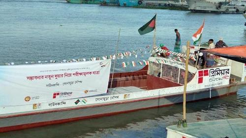 Trial run of river vessel between Bangladesh and India begins