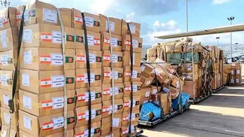 লেবাননে ৩৩৬০ কেজি গ্লাস সামগ্রী প্রেরণ করলো বাংলাদেশ
