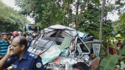 Seven people killed in a road crash in Barishal