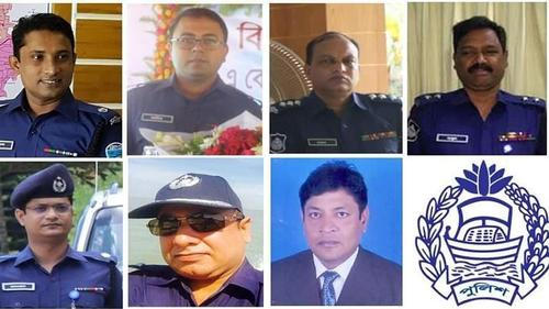 Seven high ranking police officers of Cox's Bazaar transferred