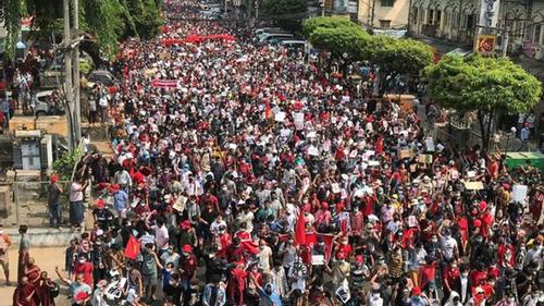 Anti-military coup movement in Myanmar is gaining momentum