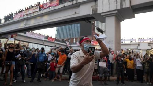 Opposition stages demonstrations ignoring ban of Military government