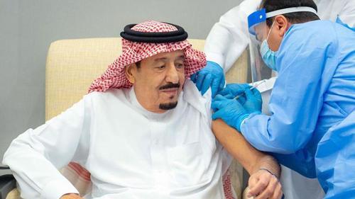 Saudi King Salman bin Abdul Aziz administered with Pfizer vaccine