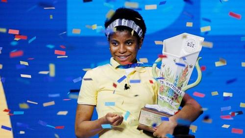 Teenager makes history at US spelling bee