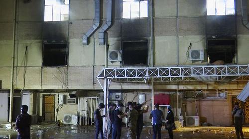 52 dead as fire rips through Iraq COVID ward