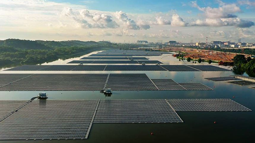 Singapore's first large-scale solar floating farm opens