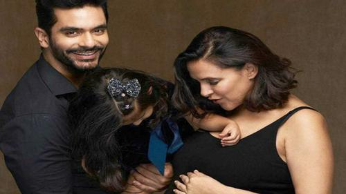 Neha Dhupia announces 2nd pregnancy with photo