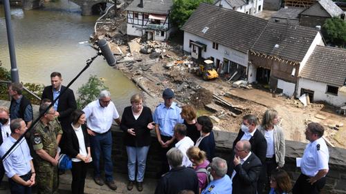 German flood devastation as 'terrifying': Merkel