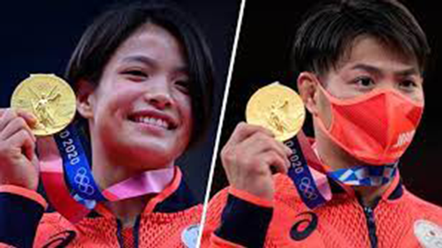 Japanese brother and sister win gold in Olympics first