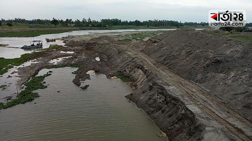 সাঘাটায় ৩৫ কোটি টাকা ব্যয়ে শুরু বাঙ্গালী নদী পুনঃখনন