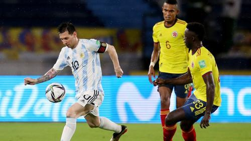 Borja goal earns Colombia draw with Argentina