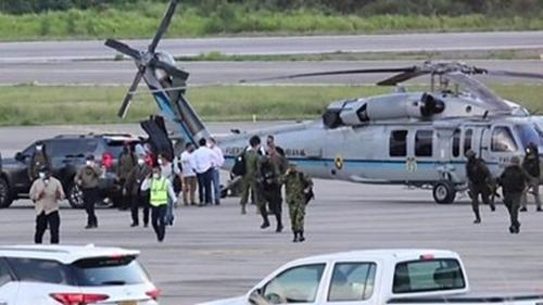 Gunfire hits Colombian President's helicopter