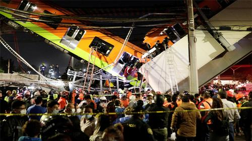 Mexico City rail overpass collapses, killing 13, injuring 70