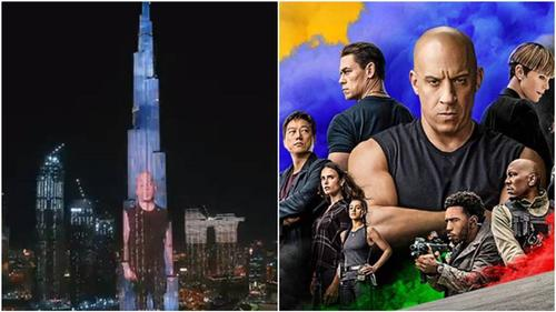 Fast and Furious 9 promo beamed onto Burj Khalifa