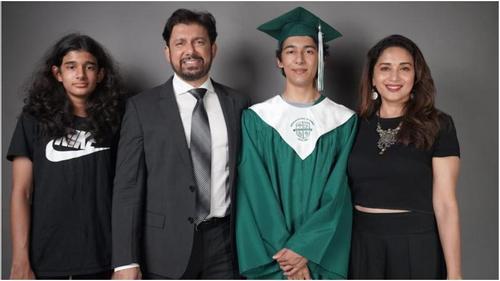 Madhuri Dixit's son Arin graduates from high school