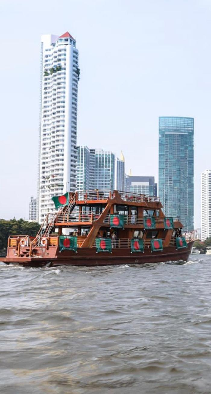 Naval procession to Bangkok on the 50th anniversary of Bangladesh's independence