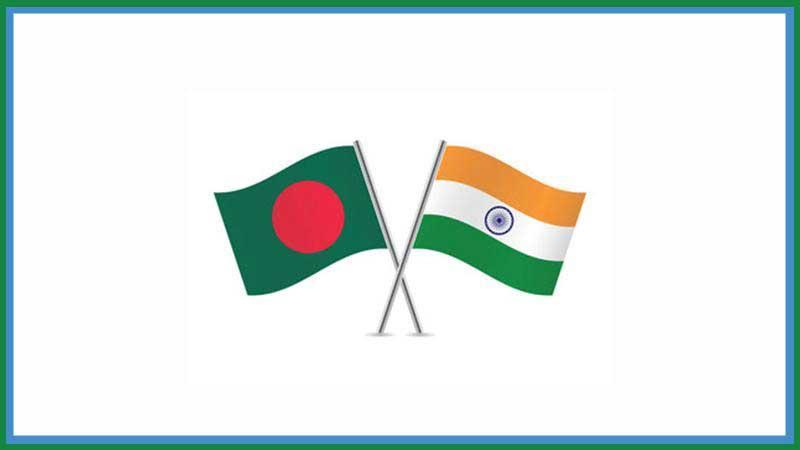 Flag of Bangladesh and India, Photo: Collected