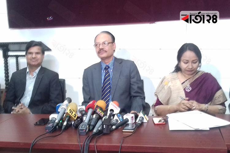 ডাকসু নির্বাচনের তফসিল ঘোষণা করেন অধ্যাপক ড. মাহফুজুর রহমান  / ছবি: বার্তা২৪