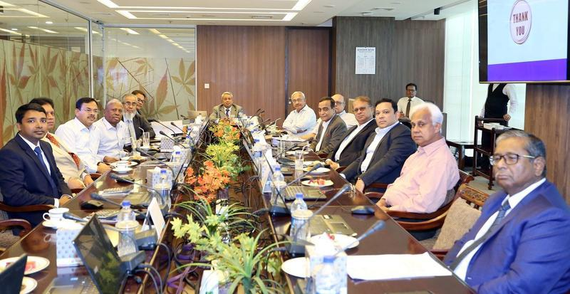 A view exchange meeting between the Board of Directors of Prime Bank and Bangladesh Financial Intelligence Unit, photo: collected