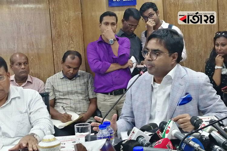 Mayor Sayed Khokon in a meeting at secretariat/ Photo: Bartatwentyfour.com