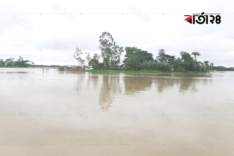 কুশিয়ারা নদীর পানি বিপদসীমার ৫৩ সেন্টিমিটার উপর দিয়ে প্রবাহিত হচ্ছে,   ছবি: বার্তাটোয়েন্টিফোর.কম