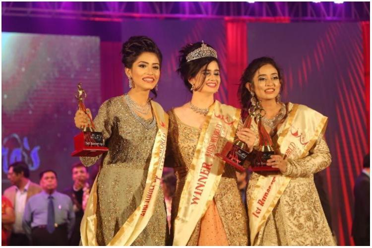 'মিস ওয়ার্ল্ড বাংলাদেশ ২০১৮'-এর বিজয়ী জান্নাতুল ফেরদৌস এবং প্রথম ও দ্বিতীয় রানারআপ