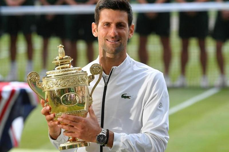 Novak Djokovic defeated Roger Federer in the men's singles championship at Wimbledon on Sunday./Photo: Collected