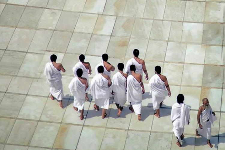 কাবা প্রাঙ্গণে হজযাত্রীদের একাংশ, ছবি: সংগৃহীত