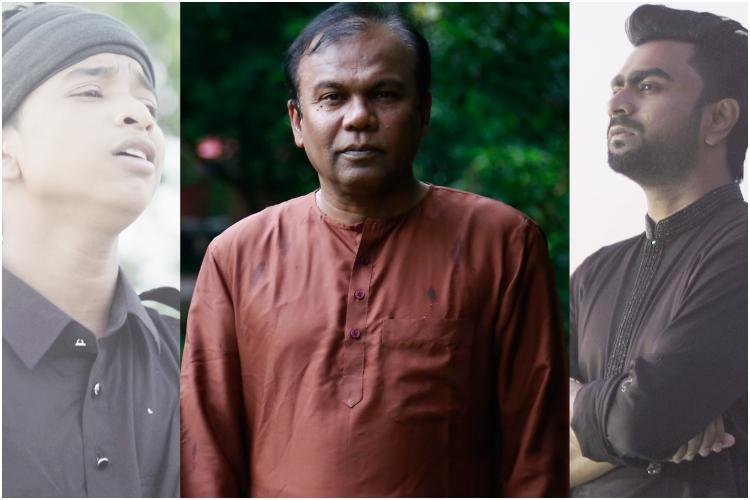 'ভাবতে ঘেন্না লাগে' গানের দৃশ্যে শফিকুল ইসলাম, ফজলুর রহমান বাবু ও ইমরান মাহমুদুল