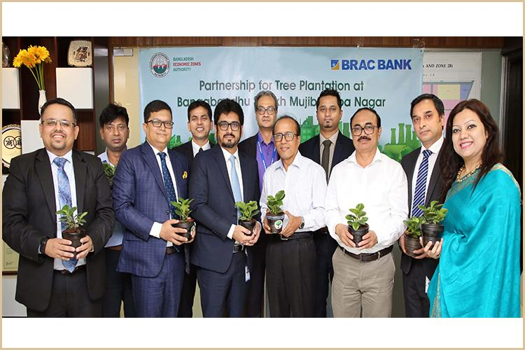 BRAC Bank partners with BEZA for tree plantation