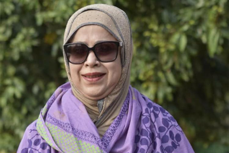 নারী স্বতন্ত্র প্রার্থী নাছিমা লুৎফর রহমান বিজয়ী, ছবি: সংগৃহীত