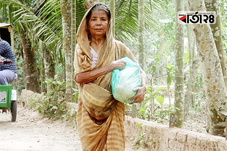মুরাদনগরের ৮১ বছর বয়সী কাপ্তানের নেছা/ ছবি: বার্তা২৪.কম