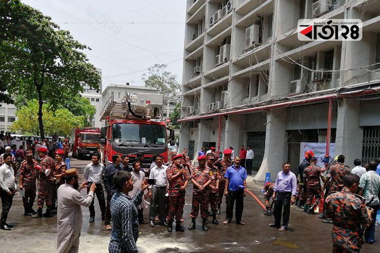 Rehearsal of Fire Service and Civil Defense at Secretariat, Photo: Barta24