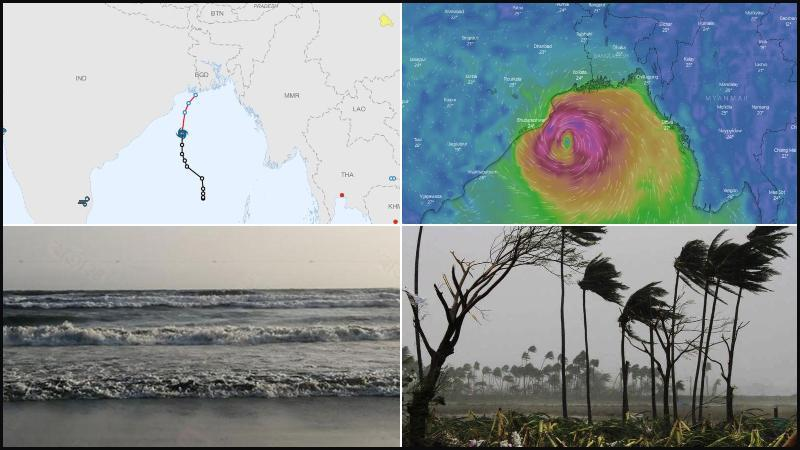 Directions of 'Bulbul' likely to hit the Southern coast of Bangladesh