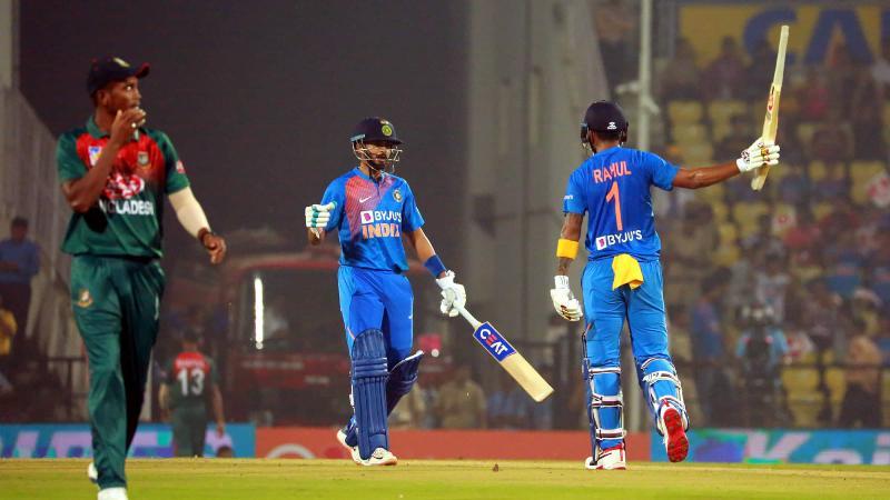 Indialifts T20 series trophy beatingBangladeshatNagpur