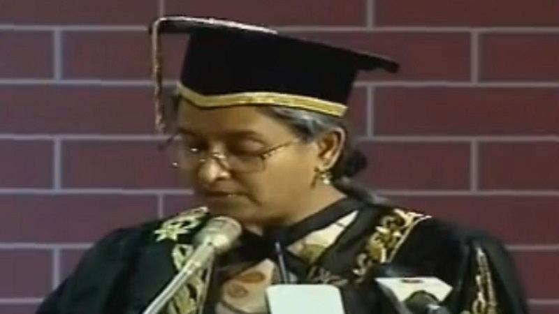 সমাবর্তন অনুষ্ঠানে বক্তব্য দেন শিক্ষামন্ত্রী দীপু মনি, ছবি: সংগৃহীত