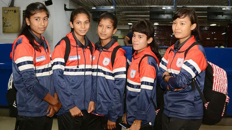 বাংলাদেশ অনূর্ধ্ব-১৫ দলের ৫ ফুটবলার- ছবি: বাফুফে